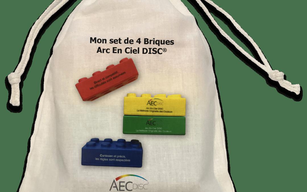 Pour animer vos formations DISC : 4 briques couleurs